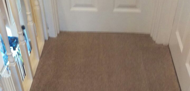 Carpet cleaning on toilet, landing , flight of stairs and small rug in CR0 area , New Addington , Croydon, London
