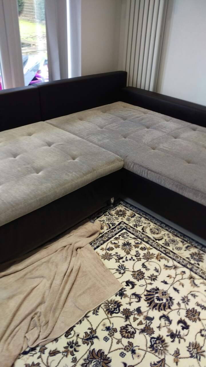 Upholstery Steam cleaning on two – five seats sofas and stool with ink spots in CR2 area, South Croydon, Selsdon