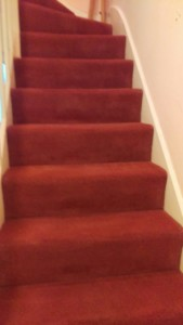 Carpet cleaning on bedroom and stairs in London, SE15 area, Peckham